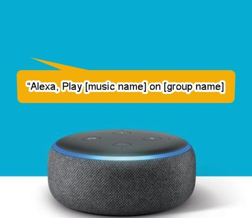 alexa multi room music command