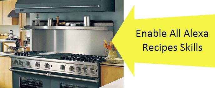 Alexa Echo Show Recipes Enable Skills Commands Cooking