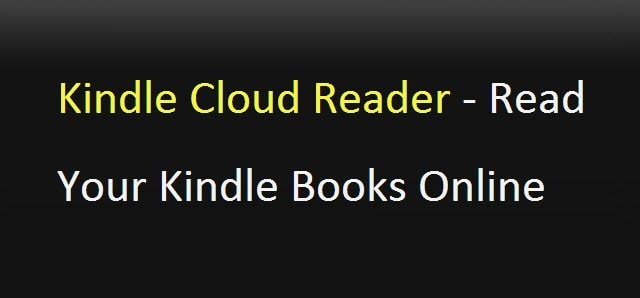 Read Your Kindle Books Online