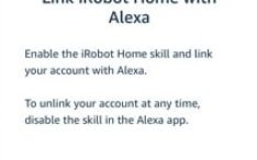 roomba linking with alexa