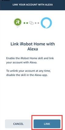 roomba linking with alexa