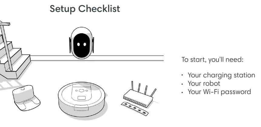 roomba wifi setup checklist