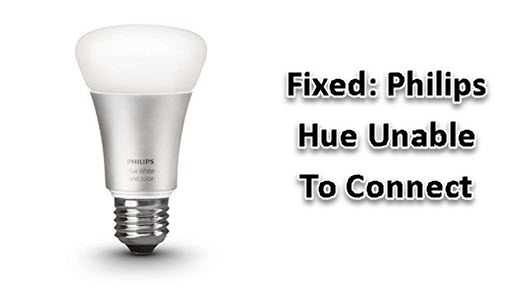 Philips Hue Unable To Connect
